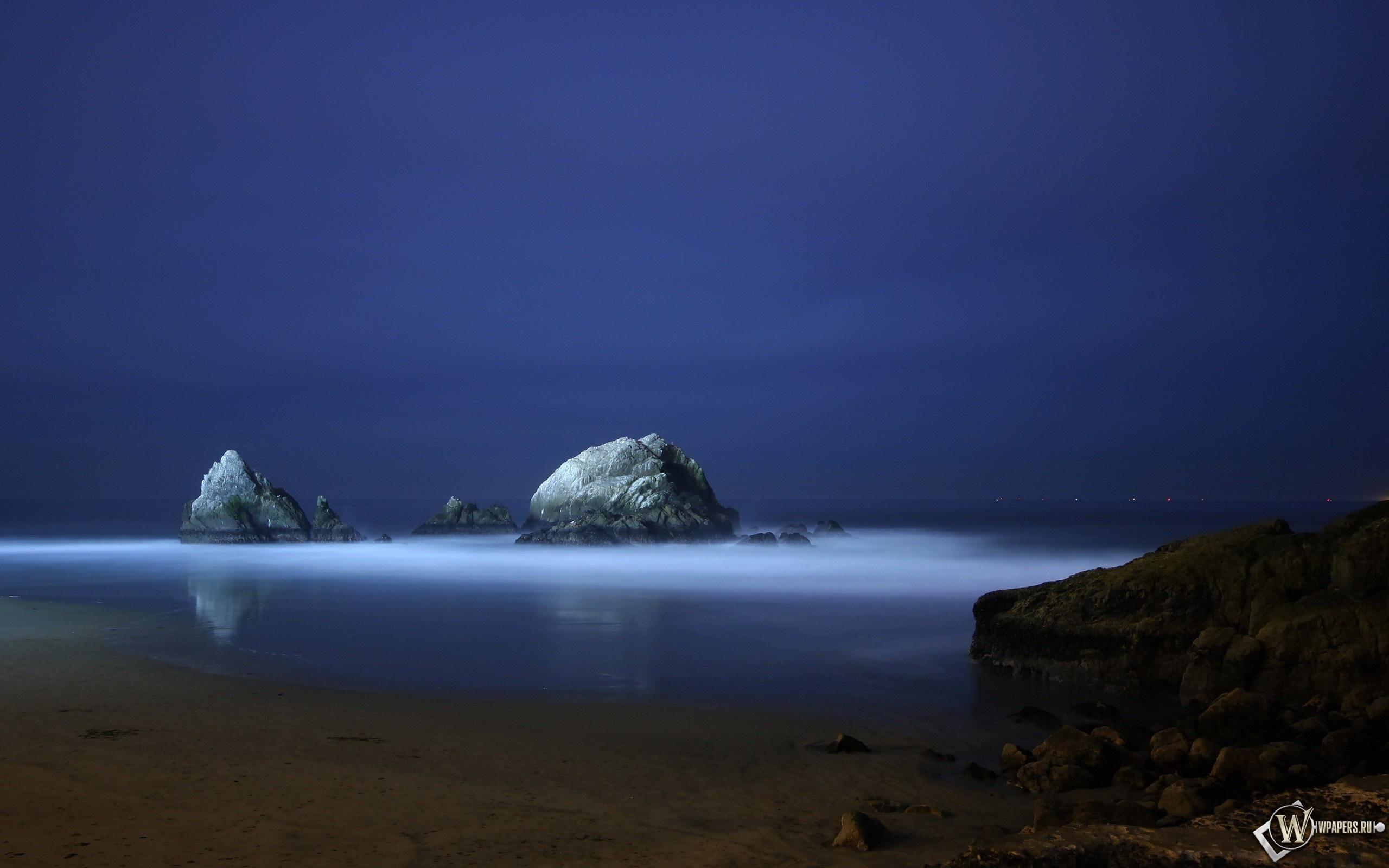 Ночной океан 2560x1600