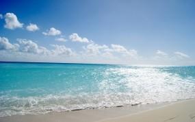 Обои Летнее море: Пляж, Волны, Вода, Песок, Море, Берег, Небо, Вода и небо