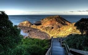 Обои Потемкинская лестница: Море, Небо, Лестница, Вода и небо