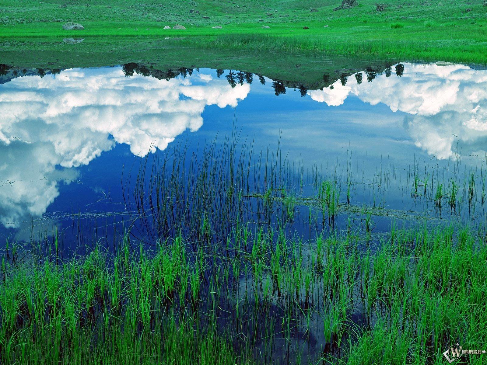 облака в озере 1600x1200