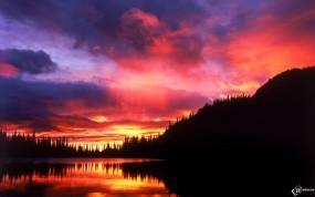 Обои Красный закат: , Вода и небо