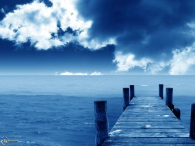 Обои Голубая пристань: , Вода и небо