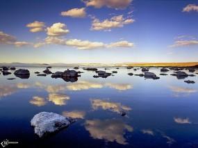 Обои Небо в воде: , Вода и небо