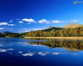 Обои Голубое озеро: , Вода и небо