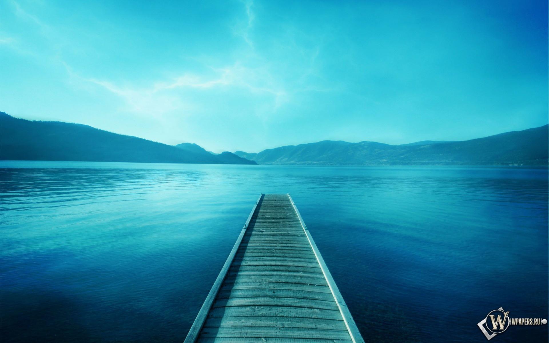 Мостик в озеро 1920x1200