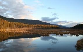 Обои Восход у реки: Река, Вода, Восход, Вода и небо