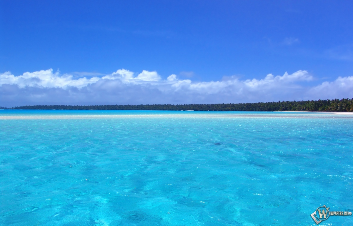 Голубой океан 1200x768