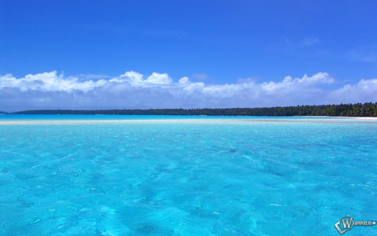Голубой океан 1280x800