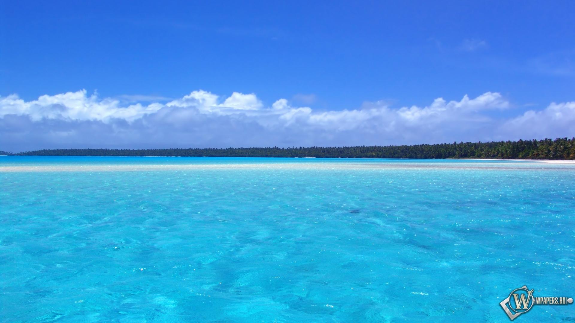 Голубой океан 1920x1080