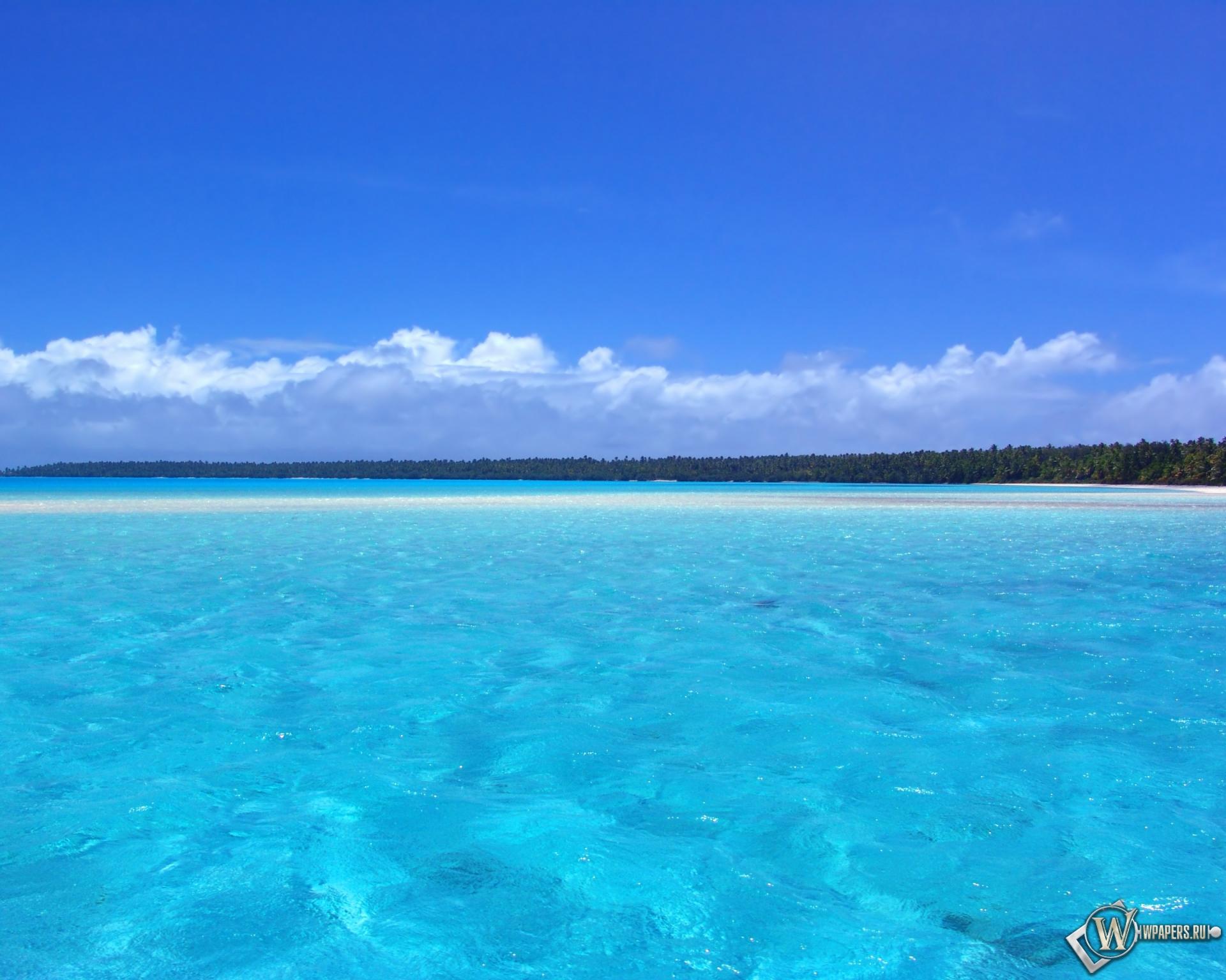 Голубой океан 1920x1536