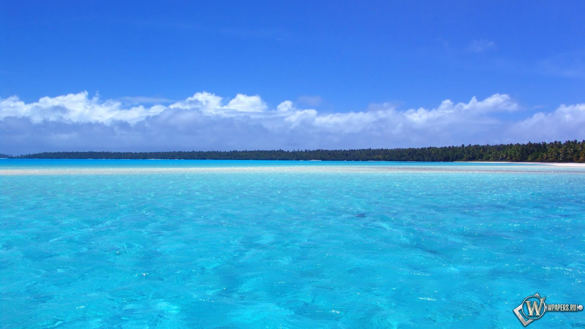 Голубой океан 2048x1152