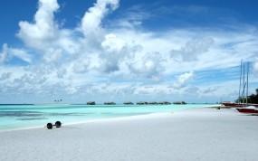 Обои Мальдивы: Пляж, Небо, Острова, Курорт, Вода и небо