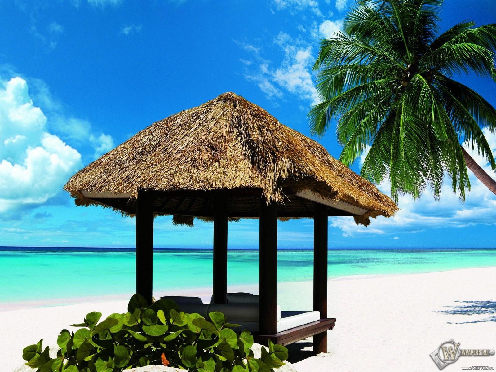 Океанский пляж 1600x1200