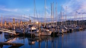 Обои Причал с парусниками: Причал, Лодки, Парусник, Мачта, Корабли