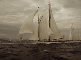 Обои Красивый парусник: Море, Ветер, Паруса, Корабли