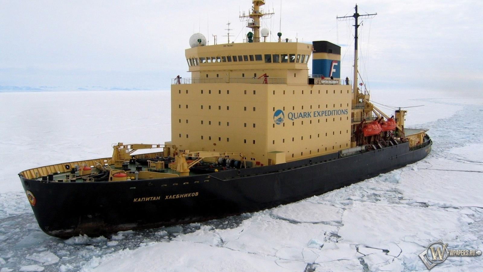 Ледокол капитан Хлебников 1600x900