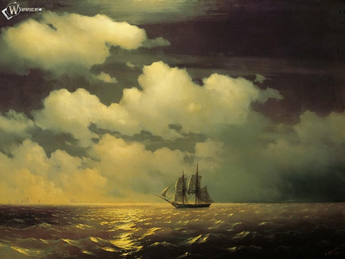 Кораблик в стиле Айвазовского 1152x864