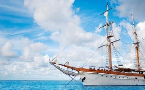 Обои Парусник: Облака, Море, Парусник, Корабль, Корабли