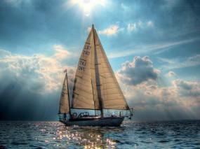 Обои Яхты на море: Море, Яхта, Парусник, Паруса, Корабли